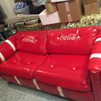 Vintage Coca Cola couch/ full sleeper