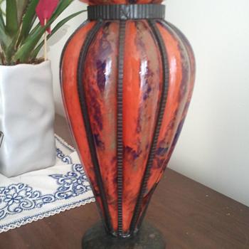 Daum Louis Majorelle Iron Vase