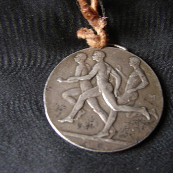 Unknown Very Old Silver Track Medal