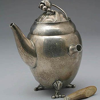 Early Jensen Coffeepot Restoration - Sterling Silver