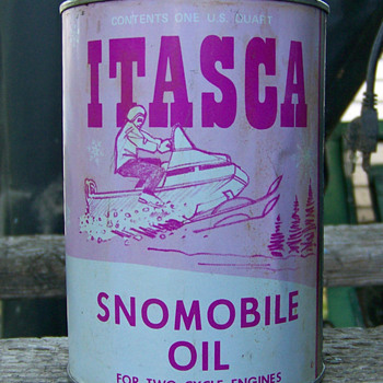 Full Itasca Snowmobile Can - Petroliana