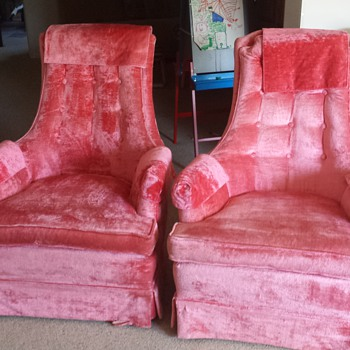 Pink Wing Back Chiars - Furniture