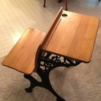 Antique School Desk - who is the Manufacturer?
