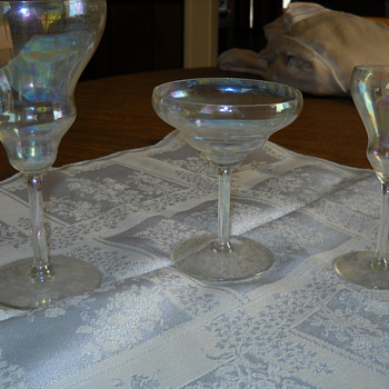 Grandmother's Tiffin crystal/glass stemware - Glassware