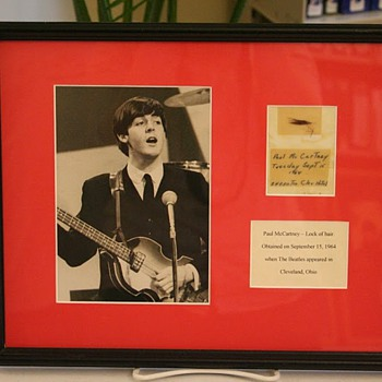 Paul McCartney's hair from Cleveland Ohio..Sept. 15, 1964... - Music