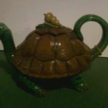 vintage minature teapot - Art Pottery