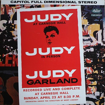 """Judy at Carnegie Hall"" Double LP Vinyl Record - Records"