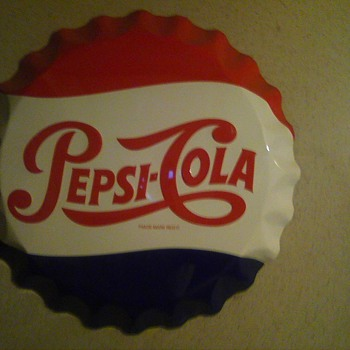 27 inch Pepsi Cola tin wall sign