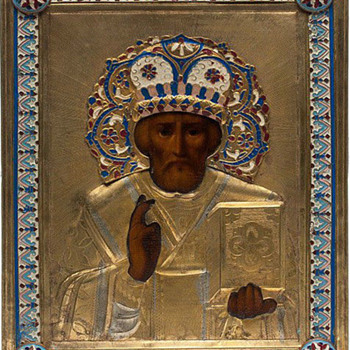 Russian Orthodox Icon of St. Nicholas - Victorian Era
