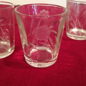 Vintage Cut Glass Shot Glasses - Glassware