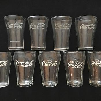 Coca-Cola Soda Fountain Glasses, 1923 - 1960s