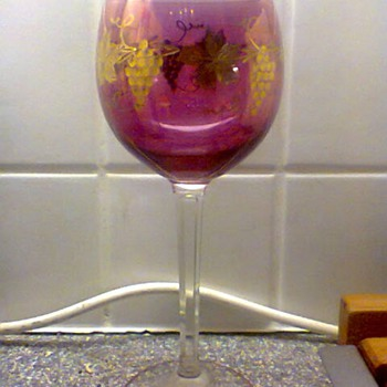 Italian wine glass - Art Glass