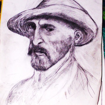 My Drawing of VanGogh - Visual Art