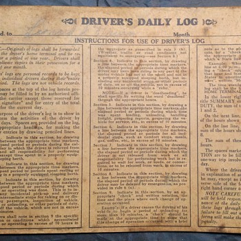 Penn Greyhound 1939 Drivers Daily Log Guy Lombardo Orga. on Board - Paper