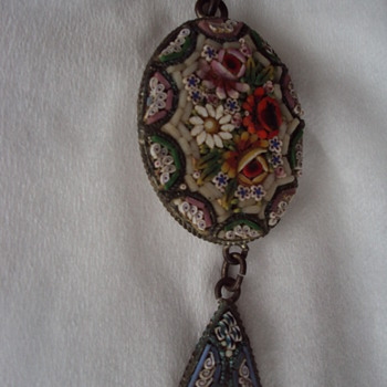 Italian Micro Mosaic Pendant