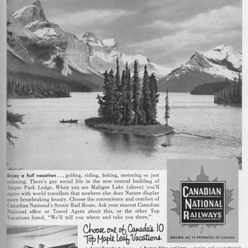1953 - Canadian National Railways Advertisement - Advertising