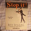 2 SHEET MUSIC OFFERINGS, UPBEAT (RAGGY) WITH SNITZY ART COVERS 1919 & 1920