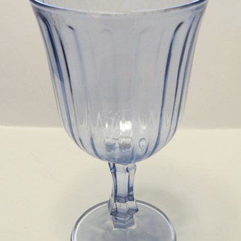 Pale Blue Glass Goblet? - Glassware