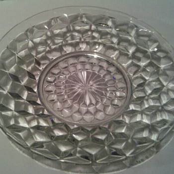 Bread And Butter Plate in the Cube-Pink pattern by Jeannette Glass