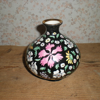 Lavenia  author vase with Chinese design.
