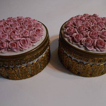 Need Help From My Collector Friends German Decor Boxes - Pottery