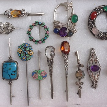 A Selection of Bernard Instone Brooches - Art Deco