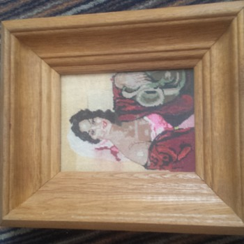 4 sewn paintings  - Sewing