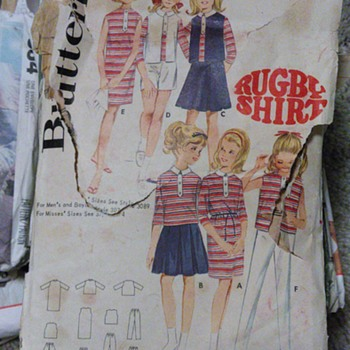 Butterick pattern rugby shirt pattern 3092