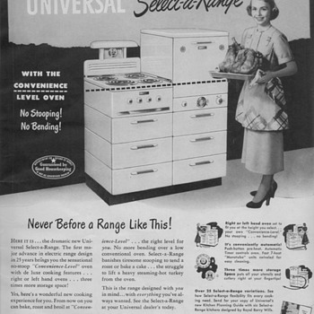 1950 Universal Select-A-Range Advertisement