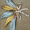 Very Large Vintage Pins With Rhinestones and Enamel