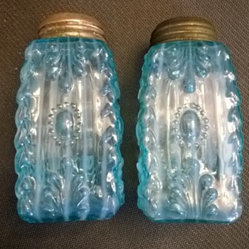 Northwood's Cactus Shakers in a Rare Blue Opalescent - Kitchen