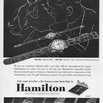 1952 - Hamilton Watch Advertisement - Advertising