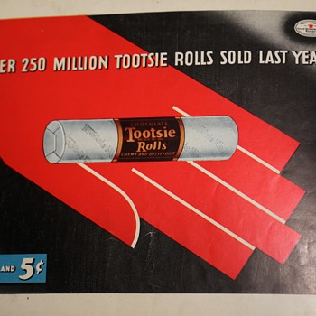Very Early Tootsie Roll Advertisement