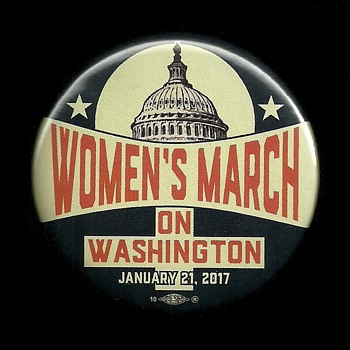 Woman's March Jan. 21st 2017 Pinback Button - Medals Pins and Badges