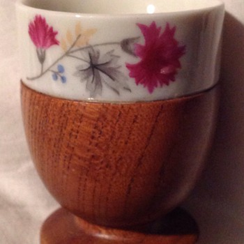 Wood & ceramic egg cup - Kitchen