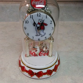 COCA COLA  BEAR CLOCK