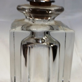 Blown Crystal Barber Bottle with Metal Pourer?   - Bottles