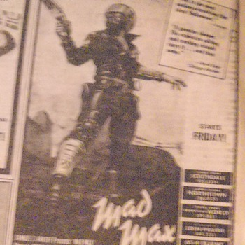 Mad Max ad in the newspaper 1980