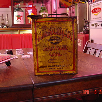 Hancock Motor Oil...Guaranteed 100% Pure Pennsylvania Oil..One Gallon Can - Petroliana