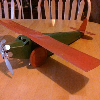 Old 30's toy airplane.