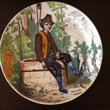 Antique Creil &amp; Montereau L.M. &amp; Cie plate - Art Pottery