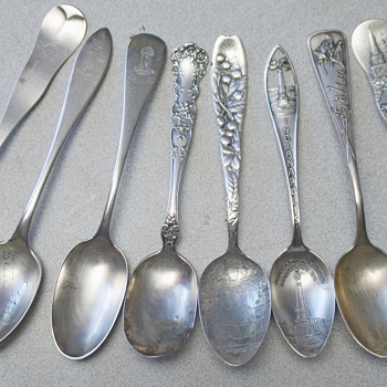 Sterling Spoon collection Salem Witch,North Church Boston