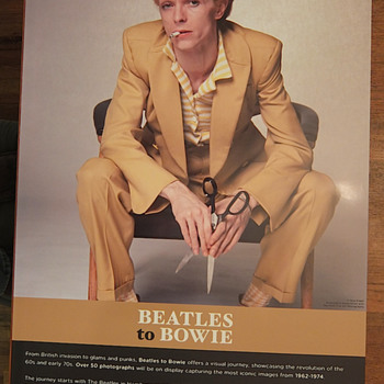 Beatles to Bowie photo-exhibition poster