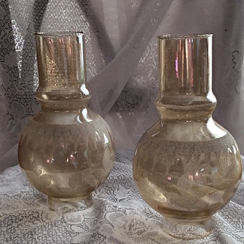 Old Italian Glass Gas lamp shades?