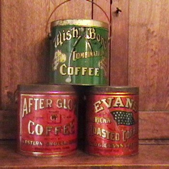 3 Early 1900's Coffee Tins - Advertising