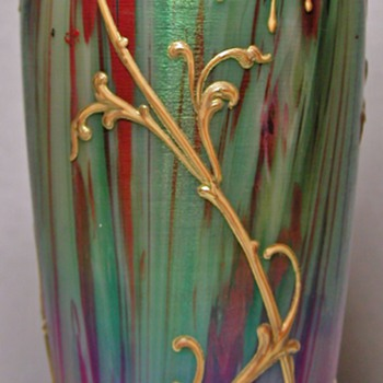 Harrach Jaspis Vase. - Art Glass