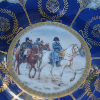 Napoleonic plate in the manner of Old Vienna porcelain