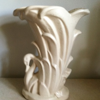 McCoy Swan Vase - Art Pottery