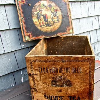 circa 1860 Chinese Tea Box from the S.S. Lord of The Isles!