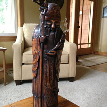 Japanese bamboo (?) statue - Asian